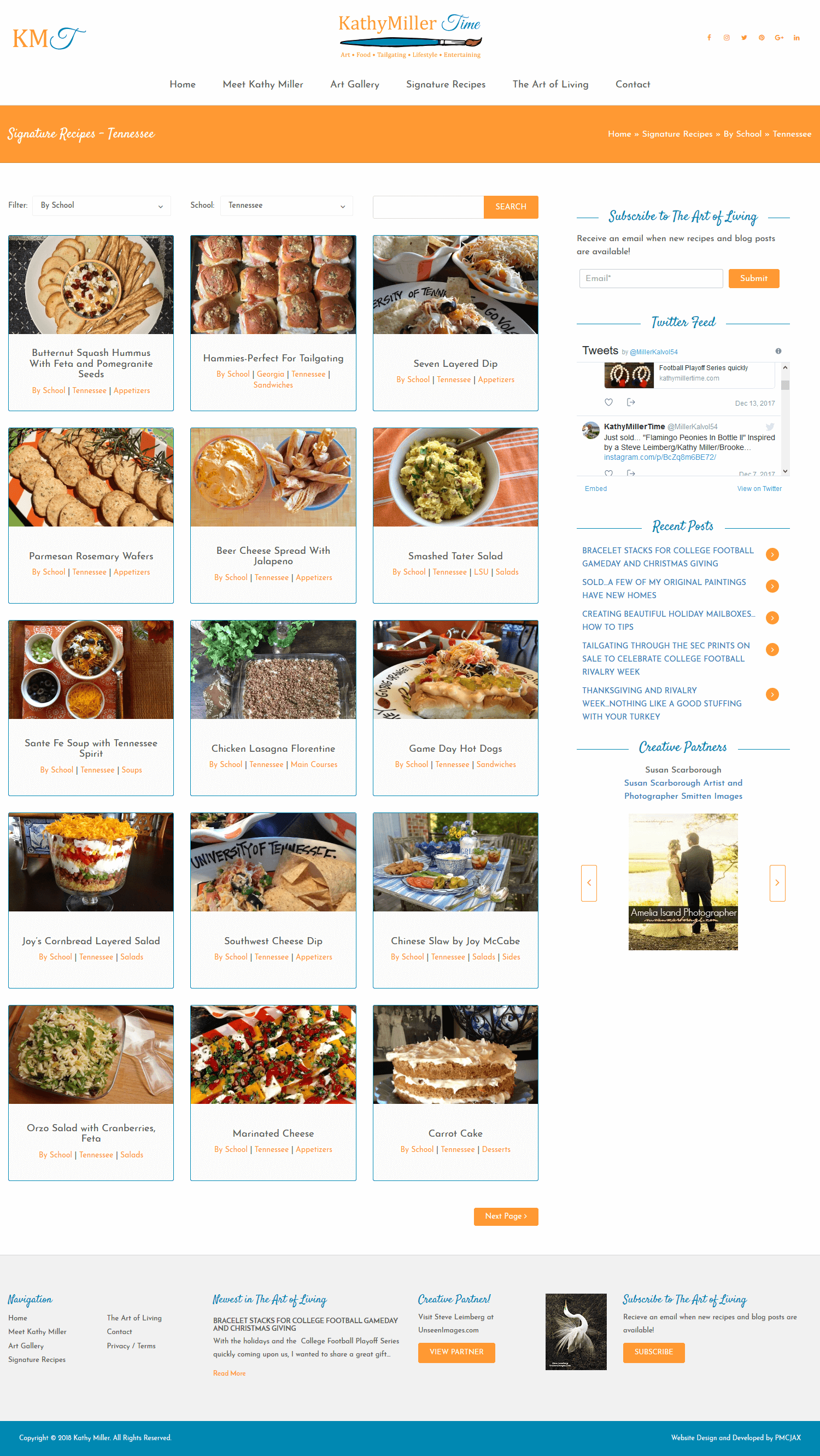 Jacksonville Website Design Company for Food Blog and Recipes
