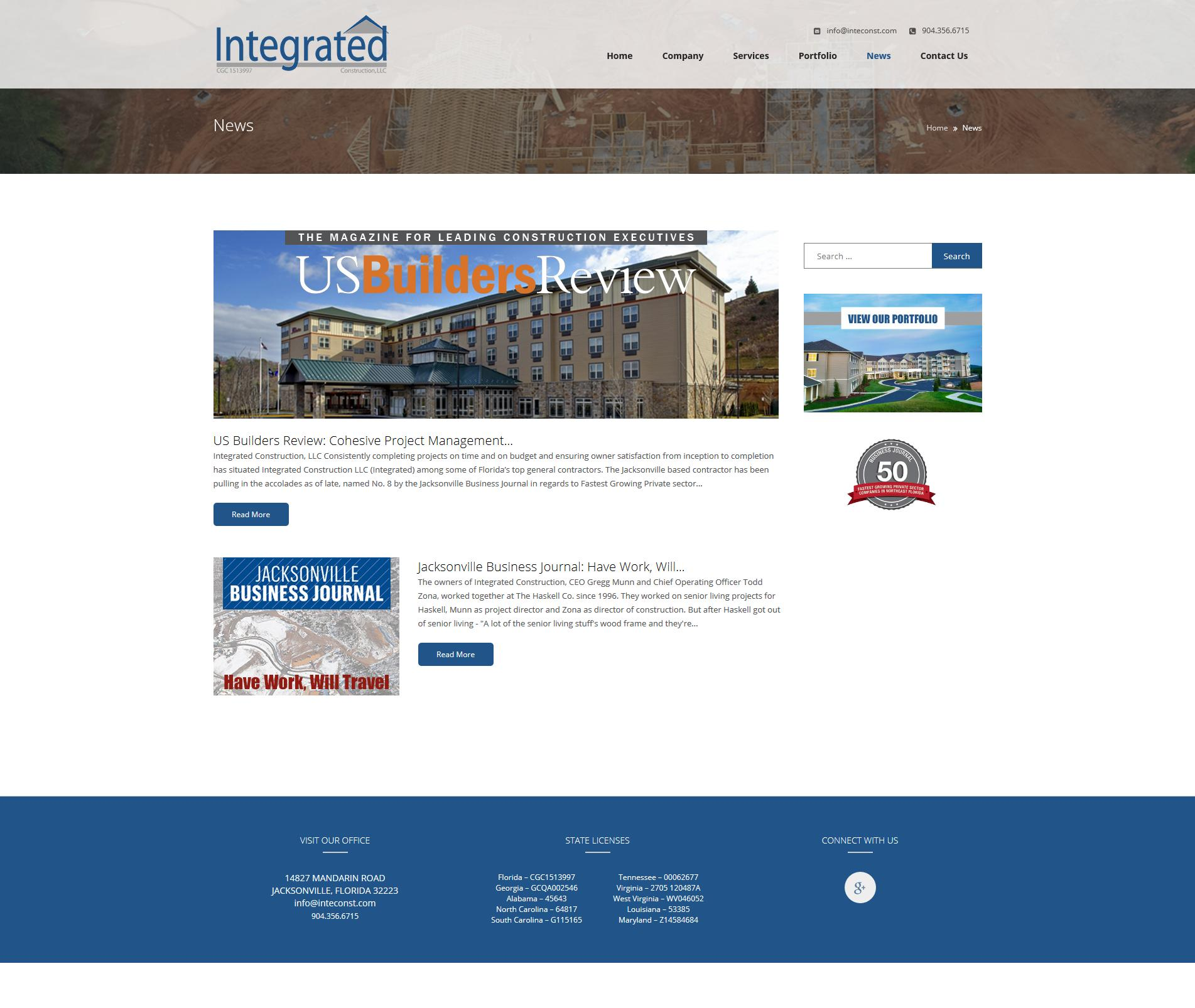 Construction Company Website Development