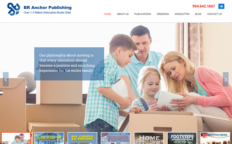Jacksonville Website Design for Book Author and Publisher