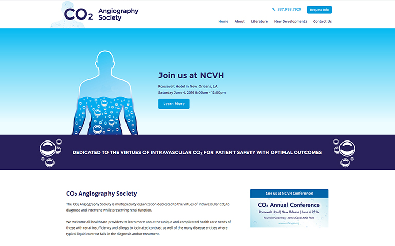 Website Design Company for Medical Society