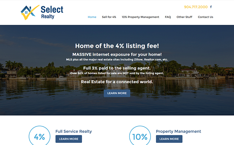 Realty website design company Jacksonville
