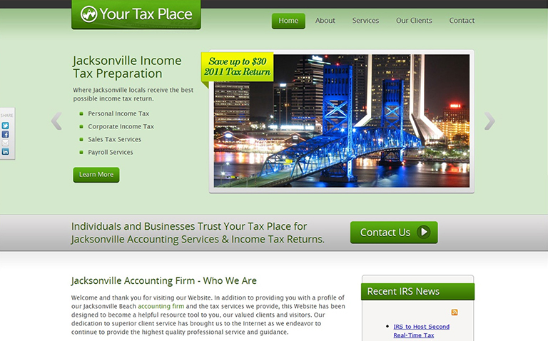 Small Business Website Design for Accounting Firm